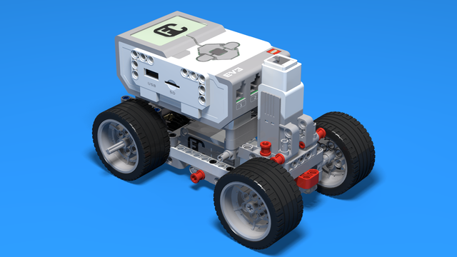 Image for Dwell - LEGO Mindstorms EV3 car with a medium motor.