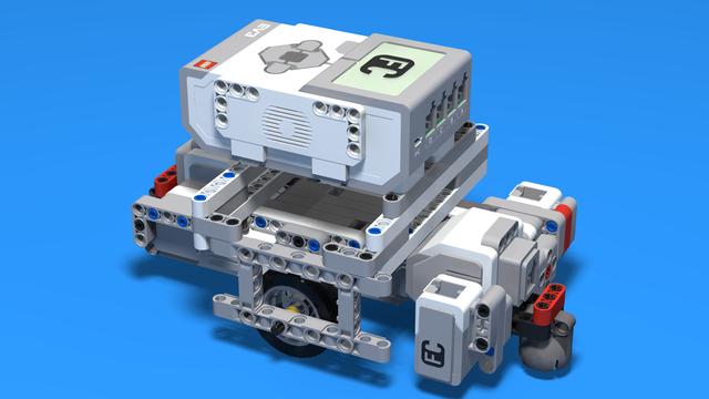 Image for Frankenstein LEGO Robot with motors in opposite directions