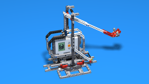 Image for Building instructions for the Base and Frame of Catapult Robot from Mindstorms kit