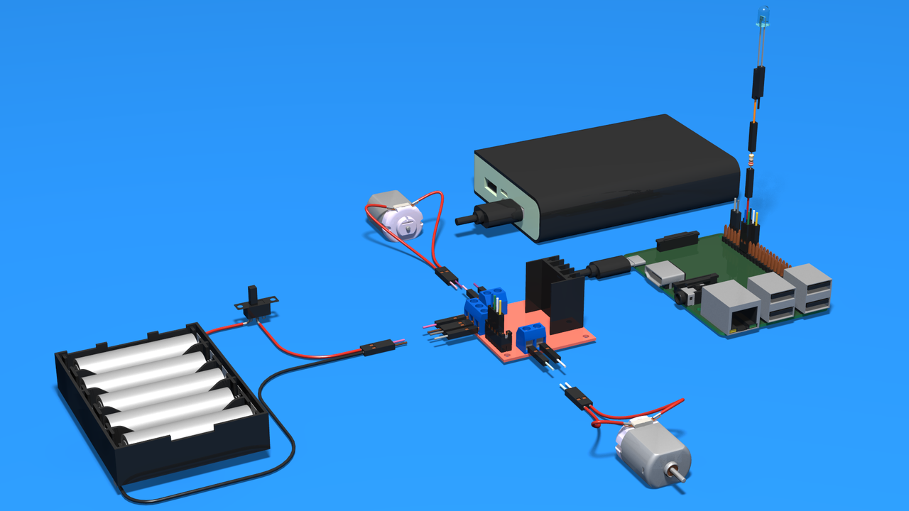 Image for Perfect Course Connecting Raspberry Pi - Motor Driver - Batteries - Motors