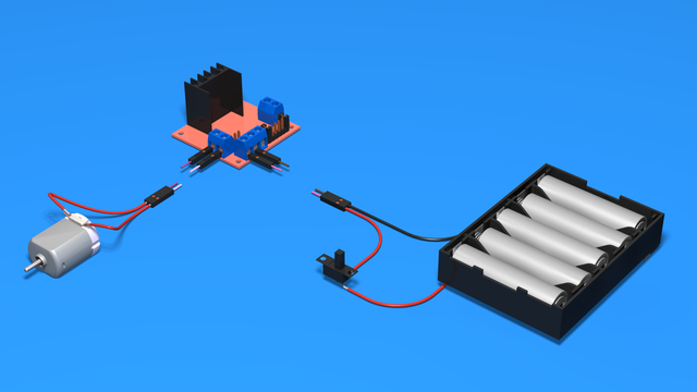 Image for How to connect L298N To Motor And Batteries