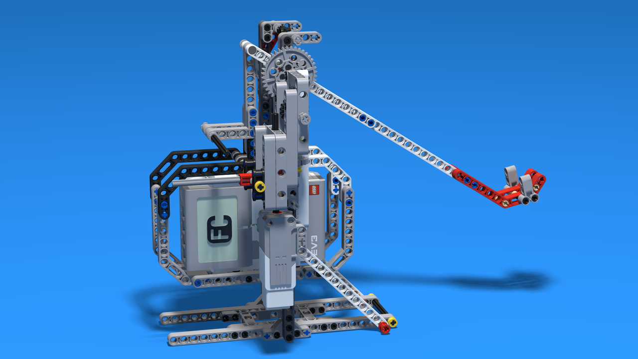 Image for Catapult without a bottom base built from LEGO Mindstorms EV3
