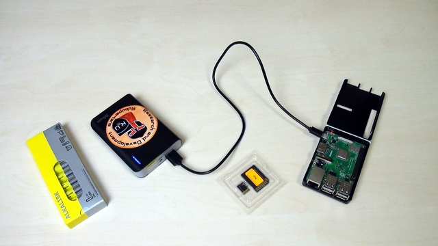 Image for Different power sources for the Raspberry PI and the motors