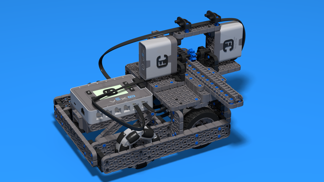 Image for Roberto With Rack For Pushing To The Left And Right Side - VEX IQ Robot