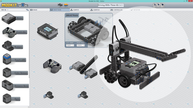 Image for Advanced Truckie - Easy To Drive Advanced VEX IQ Program for Modkit