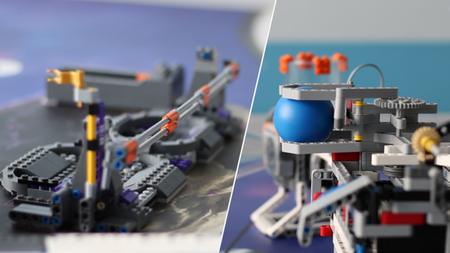 Image for FLL 2018: Mission run of M03, M04, M14 (move over, shoot, place) in FIRST LEGO League 2018 Into Orbit. Review