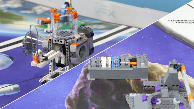 Image for FLL 2018: Mission run of M05 and M06, (Place and grab) in FIRST LEGO League 2018 Into Orbit. Review