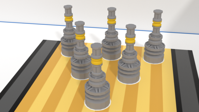 Image for Bowling pins mission models. FLLCasts Off-season Challenge 2019