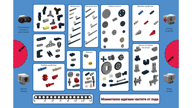 Image for Sorting sheet for EV3 Mindstorms Set (Bulgarian language)