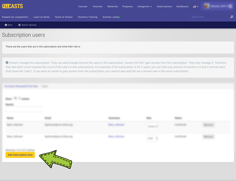 Image for Managing users in a subscription
